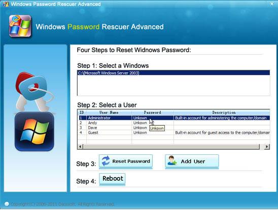 reset the windows 8 password