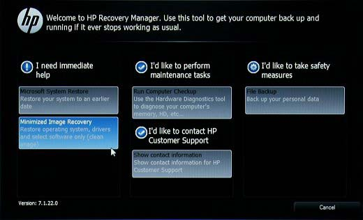 how to hard reset a hp laptop windows 10