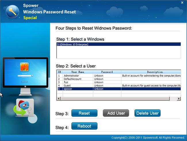 How to reset windows 10 password without disk