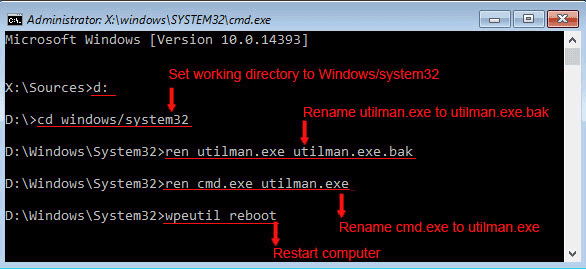 change password on windows 2016 server