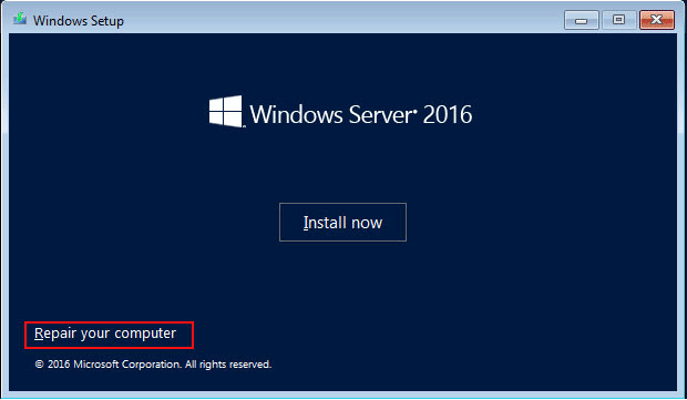 Windows Server 2016 Forgot Administrator Password on HP or