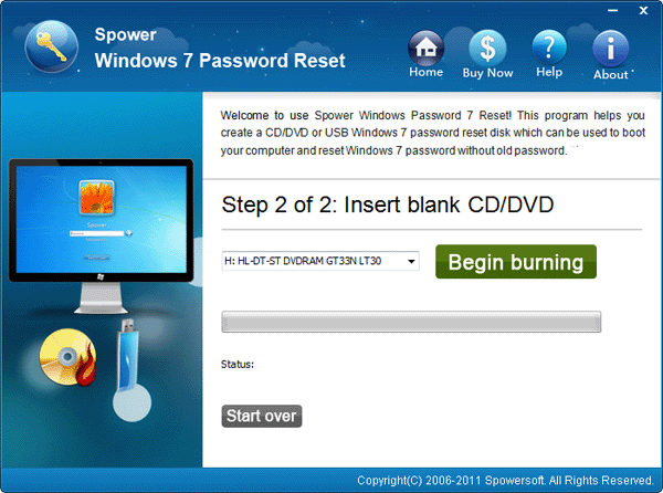 Windows 7 Password Reset Disk