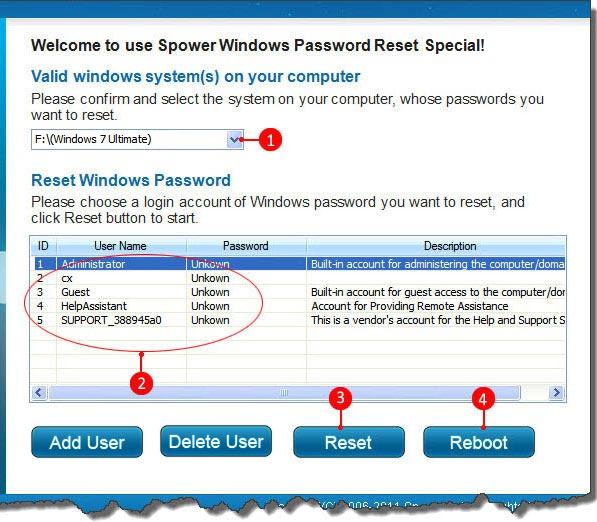 How to override(remove) windows 7,vista and xp admin password?