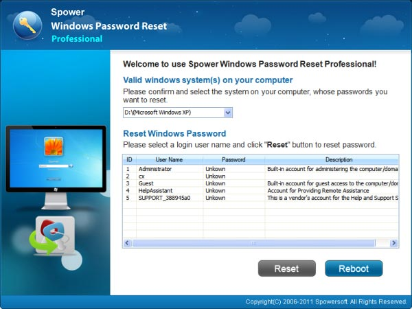 Windows Vista Home Basic Forgot Password