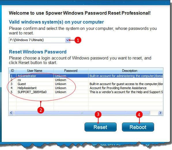 windows lost administrator password