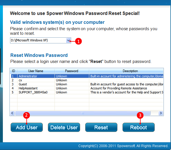 spower windows password reset special full version free download