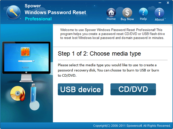 reset windows 7 user password with usb