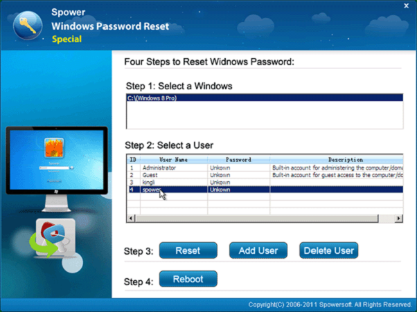 download password reset disk windows 8