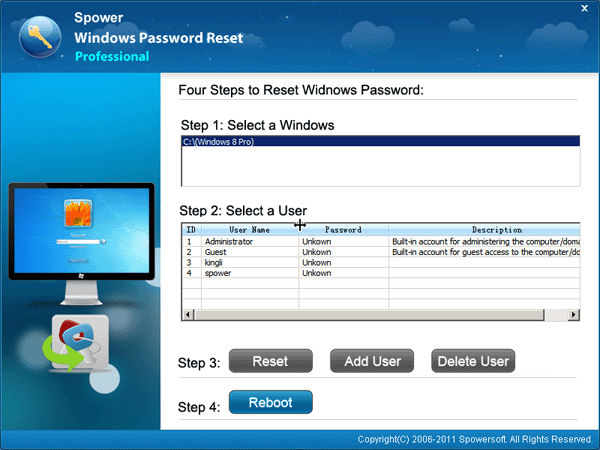 How to break windows 8 password